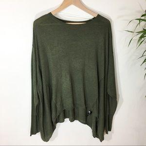 Mossimo Olive lightweight oversized sweater